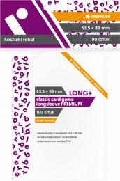 "Koszulki na karty Rebel (63,5x89 mm) ""Classic Card Game Longsleeve Premium"", 100 sztuk"