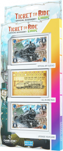 Gamegenic: Ticket to Ride - Europe Art Sleeves (58 x 90 mm)