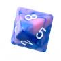 Kość REBEL dwukolorowa 8 Ścian - Cyfry - Niebiesko-różowa