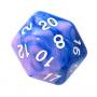 Kość REBEL dwukolorowa 20 Ścian - Cyfry - Niebiesko-różowa