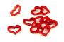 Crafters: Znaczniki akrylowe - Czerwone - Kształt - Serce (10)