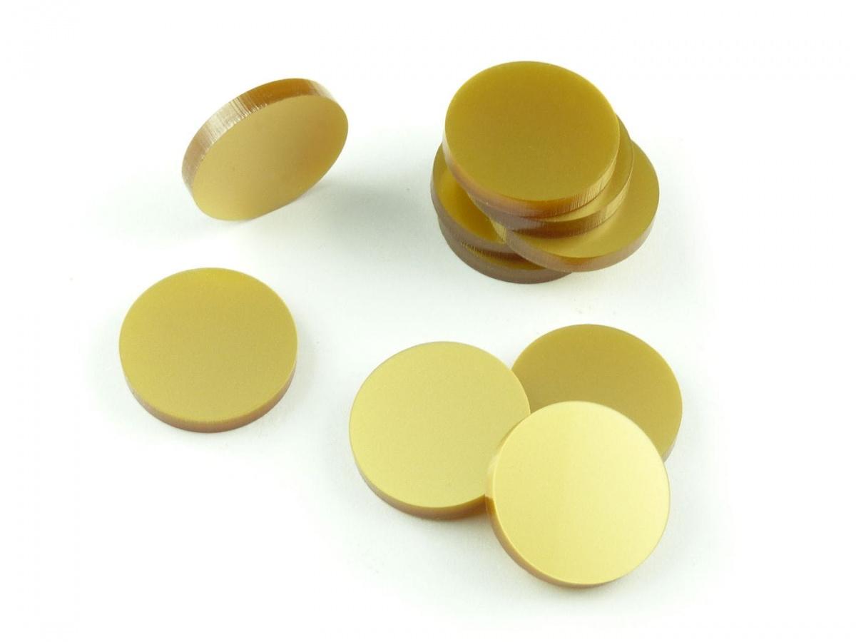 Crafters: Znaczniki akrylowe - Metaliczne - Złote (10)