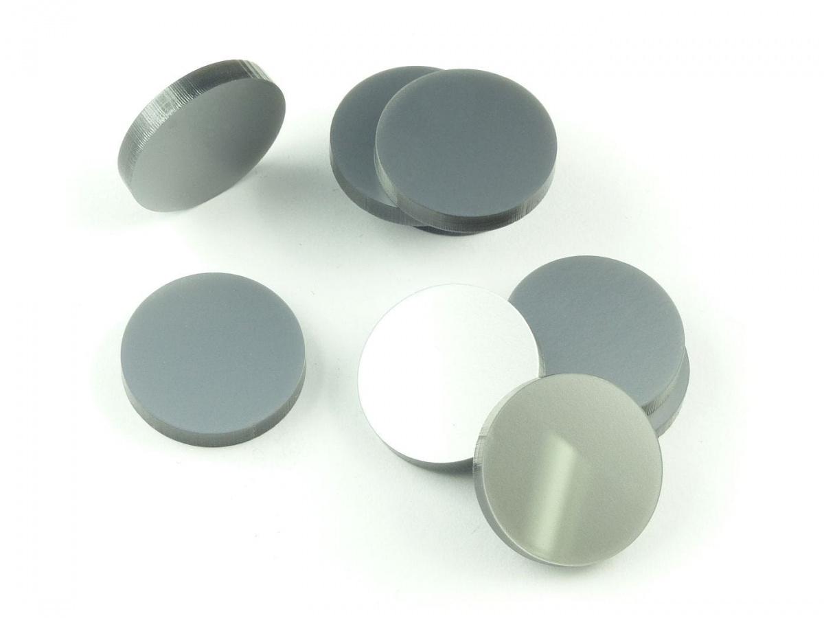 Crafters: Znaczniki akrylowe - Metaliczne - Srebrne (10)