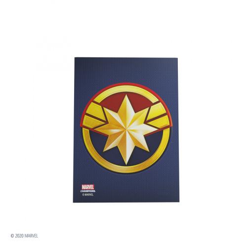 Gamegenic: Marvel Champions Art Sleeves (66 mm x 91 mm) Captain Marvel 50+1 szt.