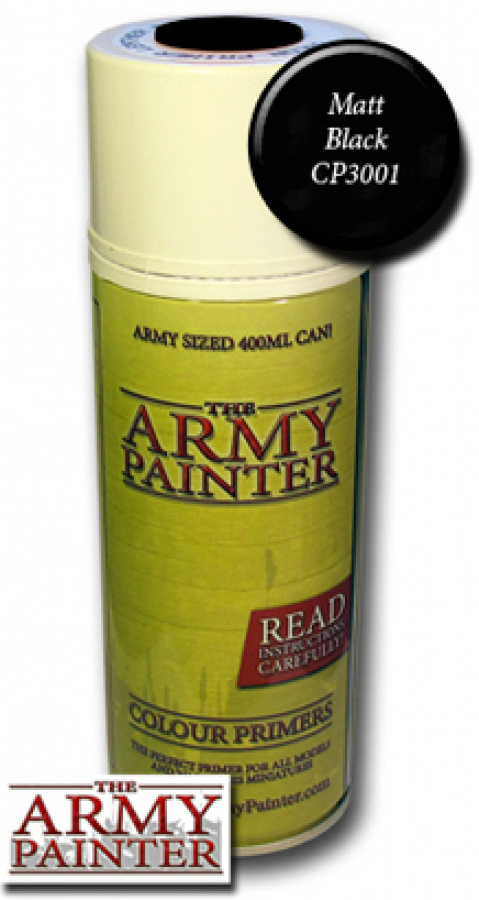 Army Painter Colour Primer - Matt Black