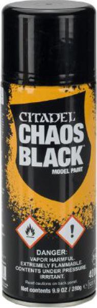 Citadel - Chaos Black Model Paint spray (2015)