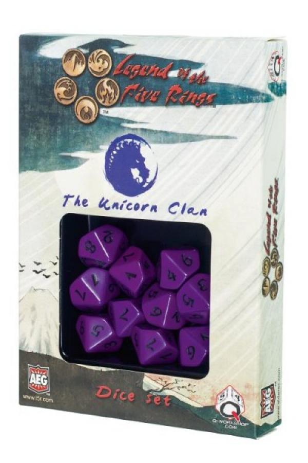 Komplet kości Legenda 5 Kręgów: The Unicorn Clan (Klan Jednorożca)