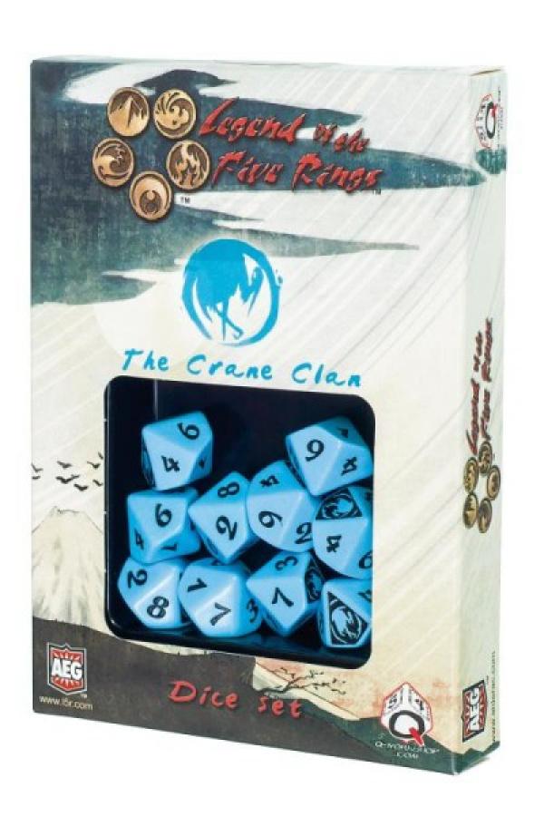 Komplet kości Legenda 5 Kręgów: The Crane Clan (Klan Żurawia)