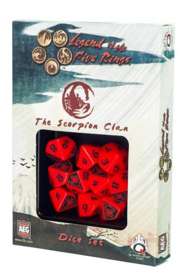 Komplet kości Legenda 5 Kręgów: The Scorpion Clan (Klan Skorpiona)