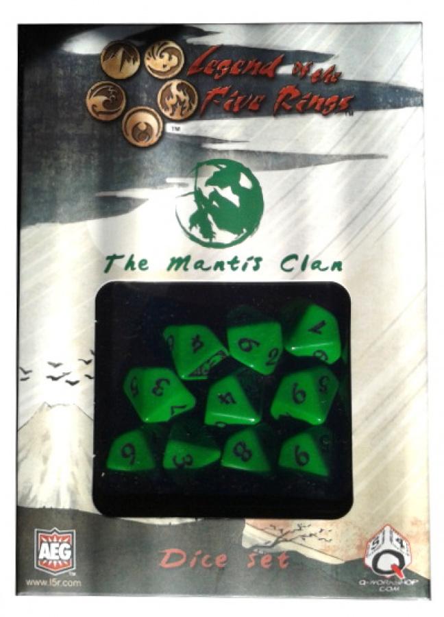 Komplet kości Legenda 5 Kręgów: The Mantis Clan (Klan Modliszki)