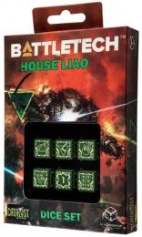 Komplet Kości Battletech - House Liao - Zielono-biały