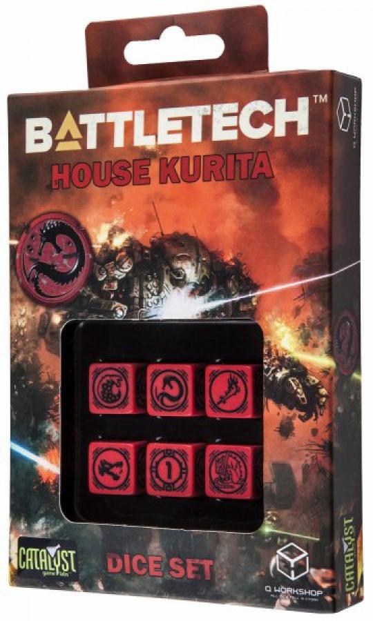 Komplet Kości Battletech - House Kurita - Czerwono-czarny