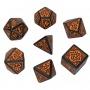 Komplet kości - Pathfinder: Hell's Vengeance - Czarno-pomarańczowy