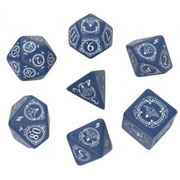 Komplet Kości - Pathfinder: Hell's Rebels - Niebiesko-biały