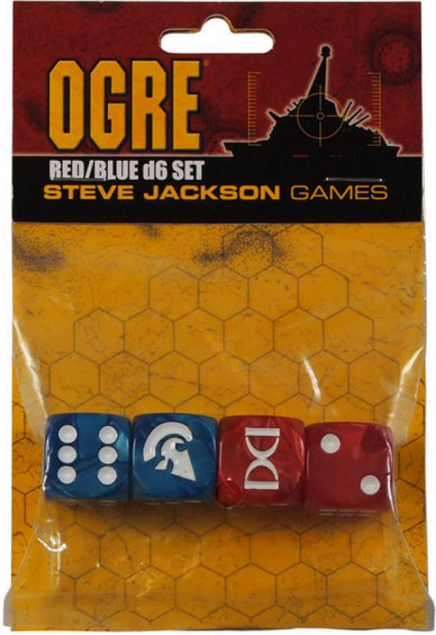 OGRE Red/Blue d6 Set