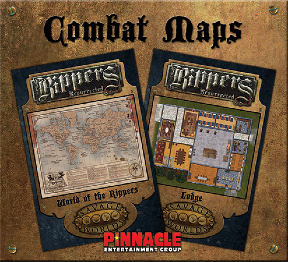 Savage Worlds: Rippers Resurrected - Maps 3: World of the Rippers + Combat Map: Lodge