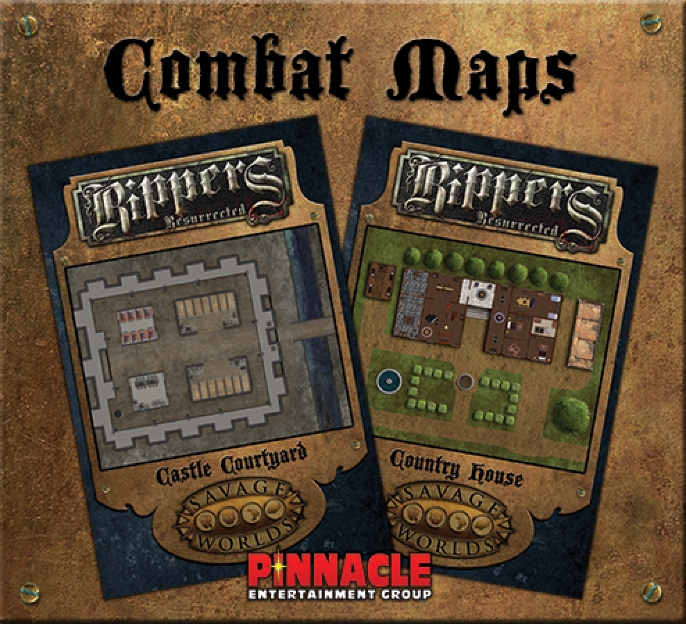 Savage Worlds: Rippers Resurrected - Maps 1 Castle Courtyard + Country House