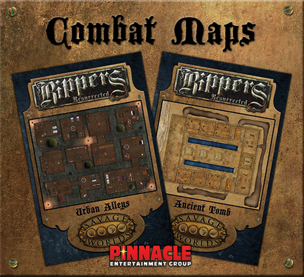 Savage Worlds: Rippers Resurrected - Maps 2 Urban Alleys + Ancient Tomb