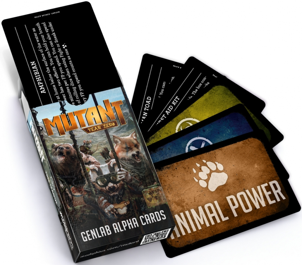 Mutant Year Zero - Genlab Alpha Cards