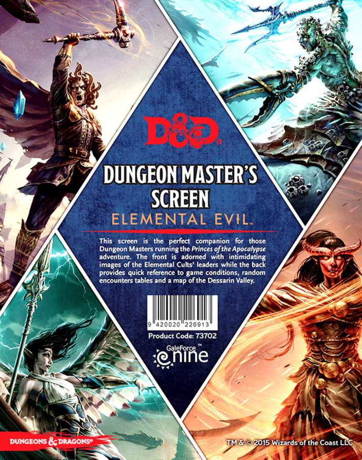 Dungeons & Dragons: Dungeon Master's Screen - Elemental Evil