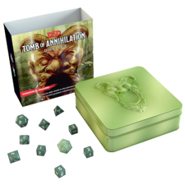 Komplet kości - D&D 5.0: Tomb of Annihilation - Zielono-białe