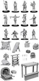 WizKids Deep Cuts: Unpainted Miniatures - Townspeople & Accessories