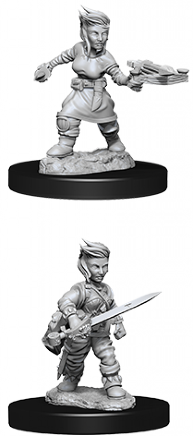 Pathfinder Battles: Deep Cuts - Female Halfling Rogue