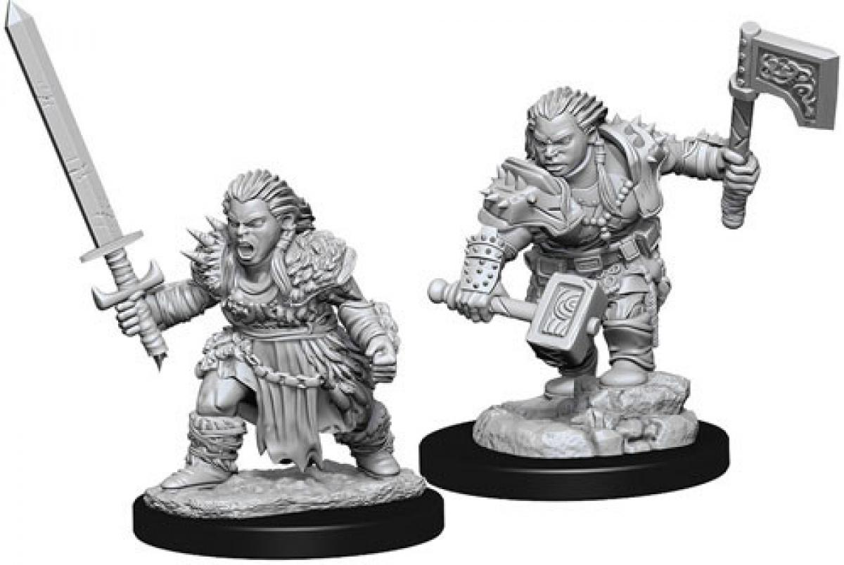Pathfinder Battles: Deep Cuts - Female Dwarf Barbarian