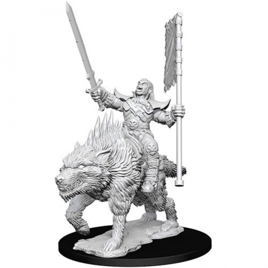 Pathfinder Battles: Deep Cuts - Orc on Dire Wolf