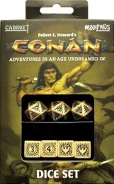 Komplet kości: Conan RPG Player's Dice Set - beżowo-czarne
