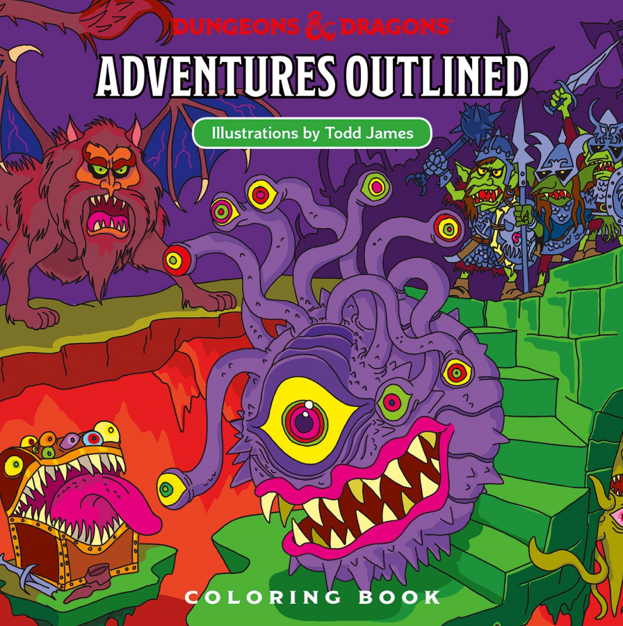 Dungeons & Dragons: Adventures Outlined - Coloring Book