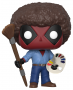 Funko POP Marvel Bobble: Deadpool Playtime: Deadpool Bob Ross