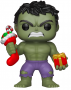 Funko POP Bobble: Marvel: Holiday Hulk w/ Stocking & Plush