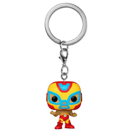 Funko POP Keychain: Marvel Luchadores - El Héroe Invicto (Iron Man)