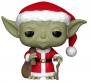 Funko POP Bobble: Star Wars: Holiday Santa Yoda