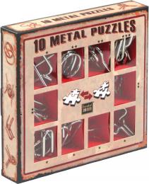 Łamigłówki Metalowe (10 Metal Puzzles) zestaw czerwony