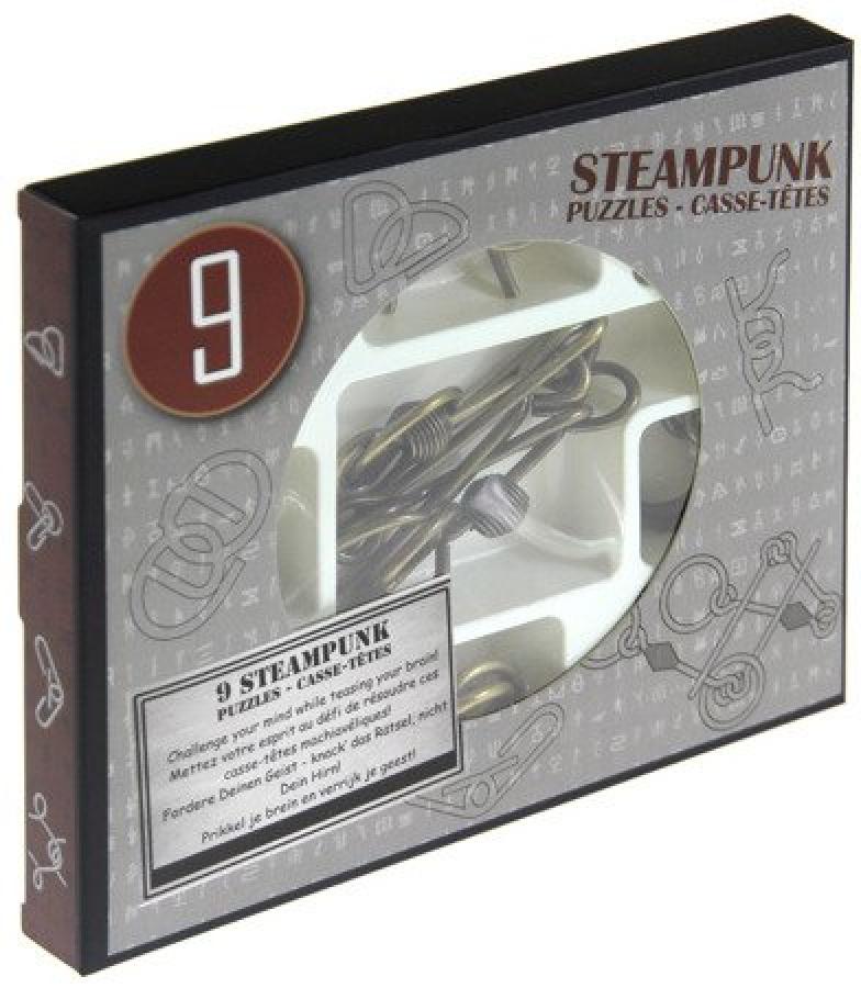 Łamigłówki Metalowe: Steampunk zestaw szary