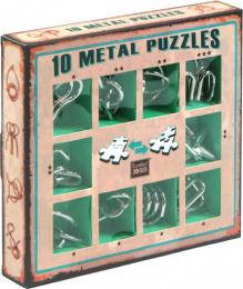Łamigłówki Metalowe (10 Metal Puzzles) zestaw zielony