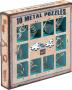 Łamigłówki Metalowe (10 Metal Puzzles) zestaw niebieski